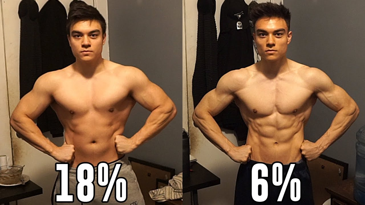 18  to 6  body fat natural transformation