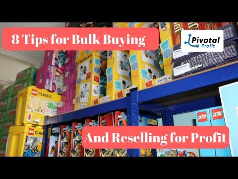 8 Tips For Bulk Buying Job Lots - Reselling For Profit on eBay and Amazon - Make Money Online