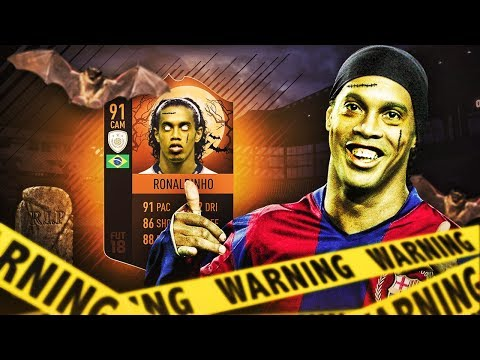 IKONA RONALDINHO 91! HALLOWEEN DRAFT FIFA 18