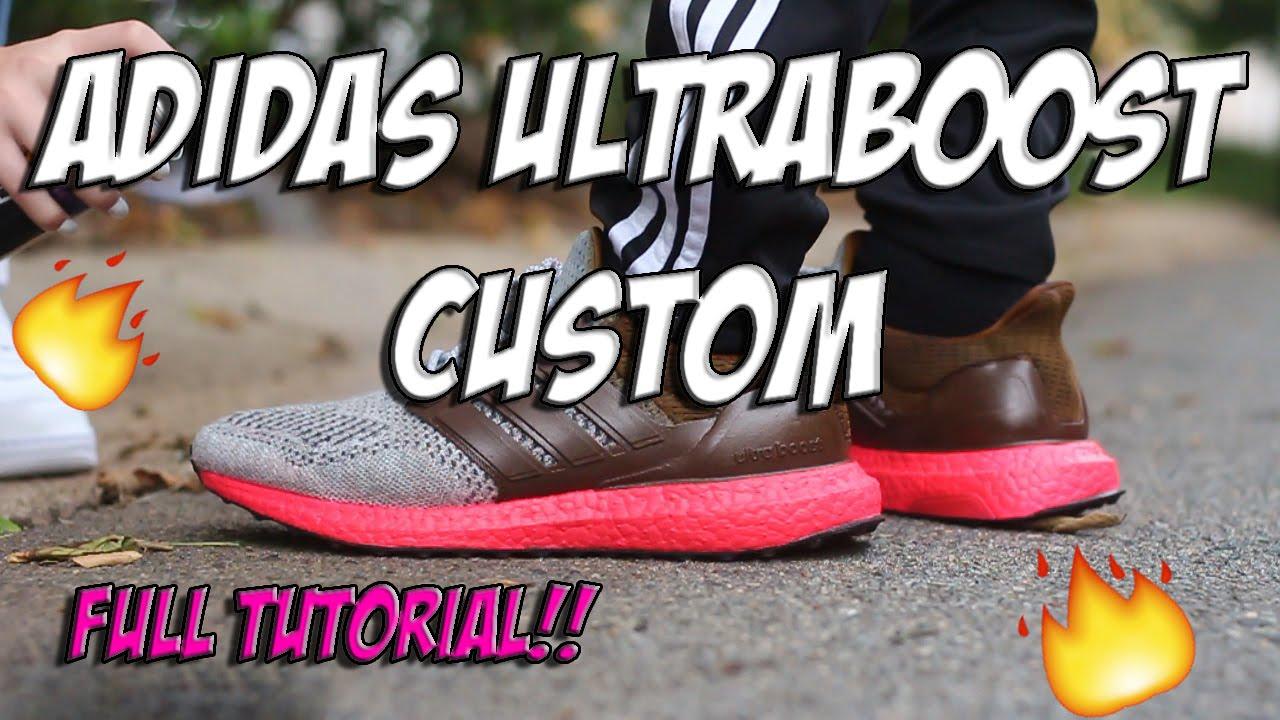e8df42a8427293 ADIDAS ULTRA BOOST CUSTOM!!! (no audio