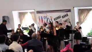 Ella Knight Bari Sax Omaha Burke Jazz Band 2015