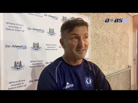 Skerries Harps manager Terry McGuinness chats to DubsTV following draw with Ballymun Kickhams