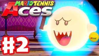 Mario Tennis Aces - Gameplay Walkthrough Part 2 - Mirage Mansion! (Nintendo Switch)