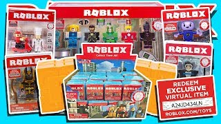 UNBOXING A TON OF MYSTERY SUPRISE ROBLOX TOYS!! (Codes de jouets virtuels)