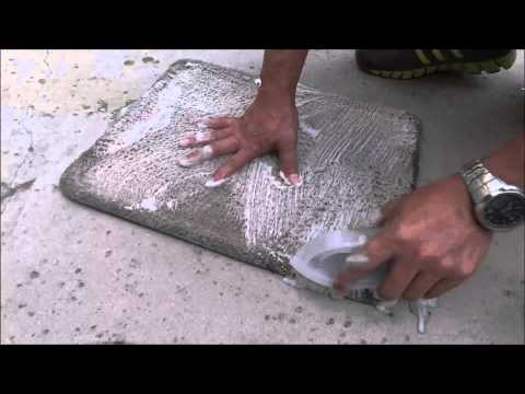 Removing heavy stain from automotive carpet.