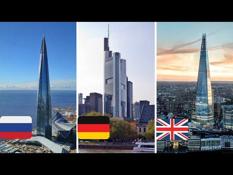 The tallest buildings in all European countries