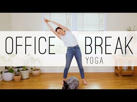 Office Break Yoga 14 Min Yoga Practice Yoga With Adriene Youtube