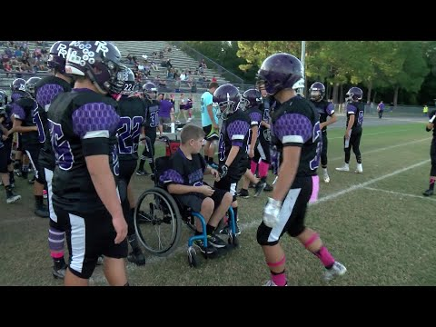 Andi and Kenny  - 7th Grader With Neuromuscular Disorder Scores First Touchdown