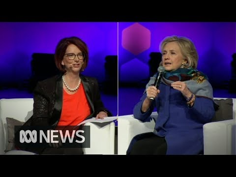 Hillary Clinton and Julia Gillard on women in power and weaponised fake news
