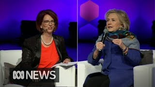 Hillary Clinton and Julia Gillard on women in power and weaponised fake news thumbnail