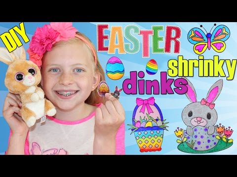 Amazing Shrinking Art!! Easter Shrinky Dinks Craft Time with Alyssa