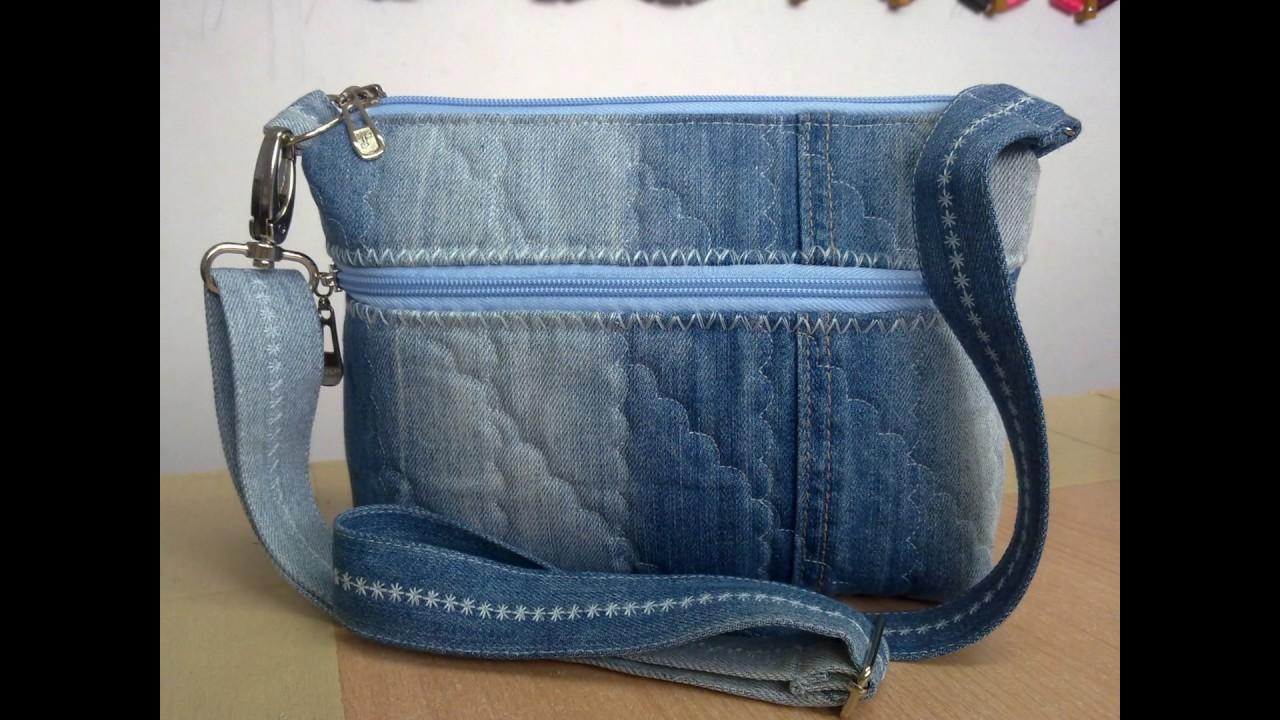 961fa821d3ba модели джинсовых сумочек. джинсовая сумка. - YouTube