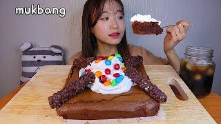 MUKBANG 직접 만든 크림 가득 촉촉한 브라우니 디저트 먹방 CHOCOLATE BROWNIE Dessert asmr チョコレート·ブラウニー