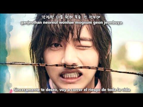 V & Jin (BTS) - Even If I Die, It's You (죽어도 너야) [Sub Español + Hangul + Rom] Hwarang OST