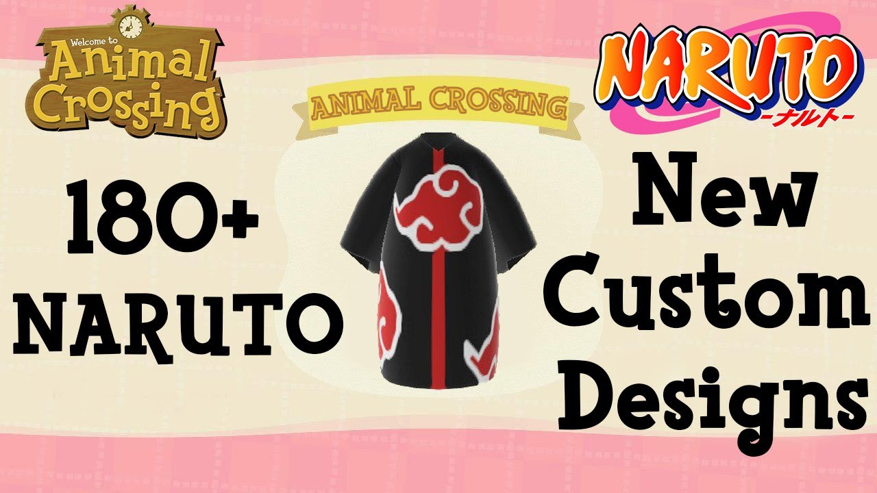180 Naruto Animal Crossing New Horizons Custom Designs Town Tunes Codes Createur Designs Id Youtube