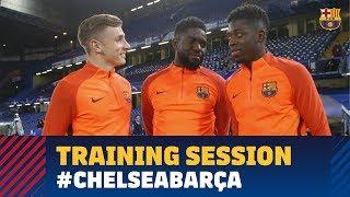 Training session at Stamford Bridge