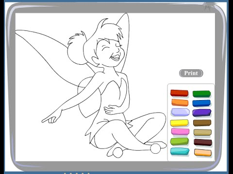 Free Tinkerbell Coloring Pages For Kids - Tinkerbell Coloring Pages ...