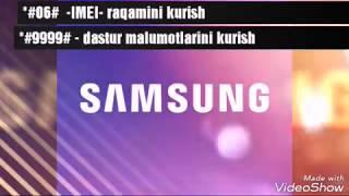 Samsung telefonlar uchun maxfiy kodlar MyTub.uz