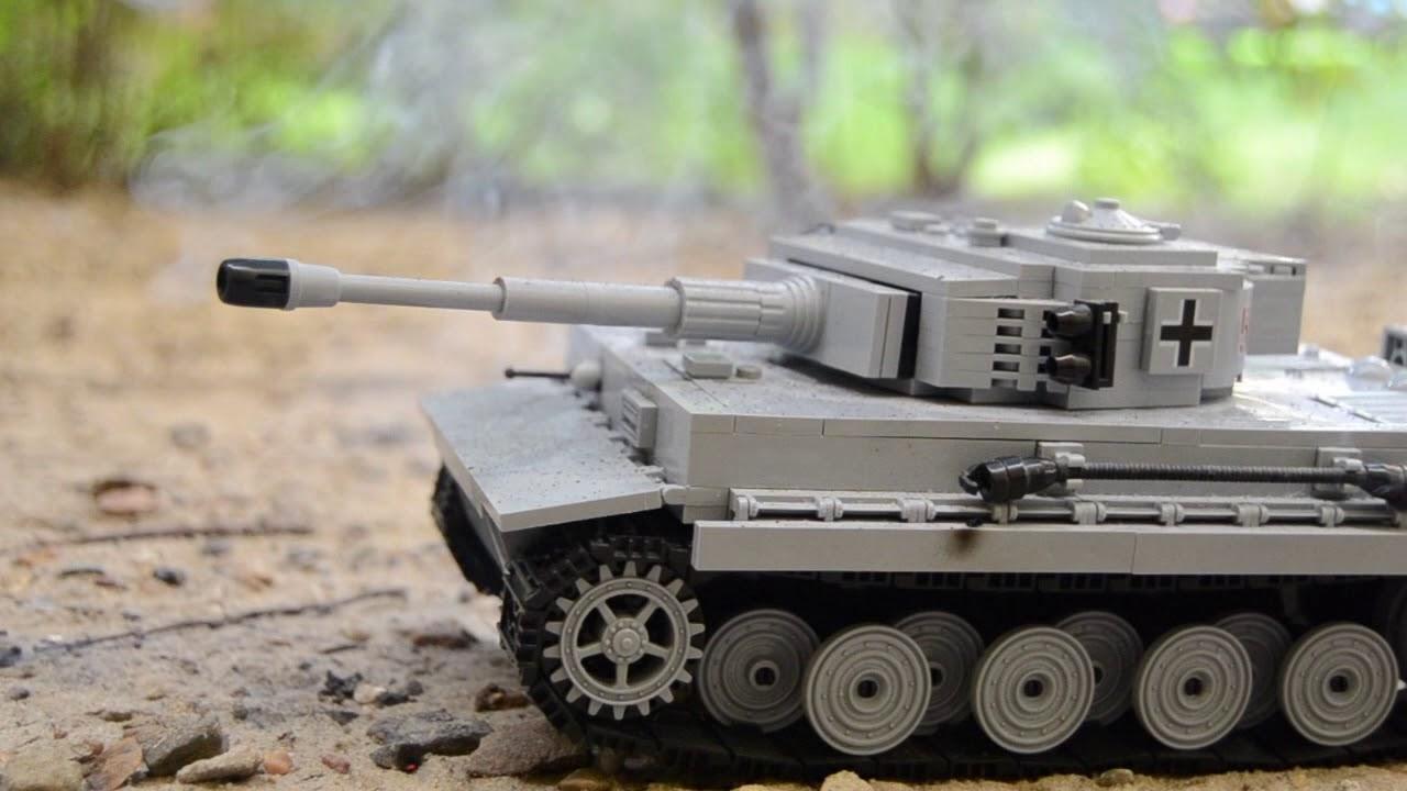 WW2 Tank battle / Tiger vs  T-34 ( Lego )