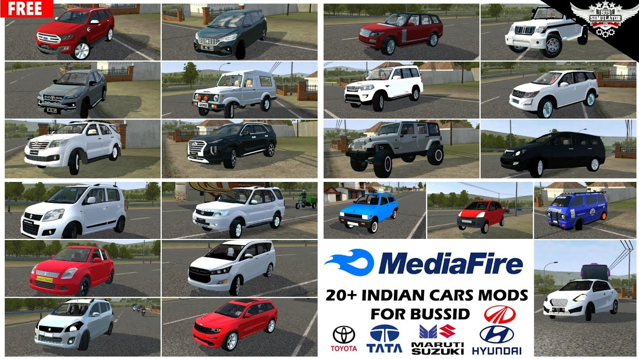 20+ Mods Of Indian Cars For Bussid || Car Mod in Bus simulator Indonesia