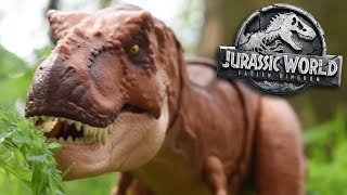 Here comes Jurassic World Fallen kingdom's Thrash and Throw T.rex! ...
