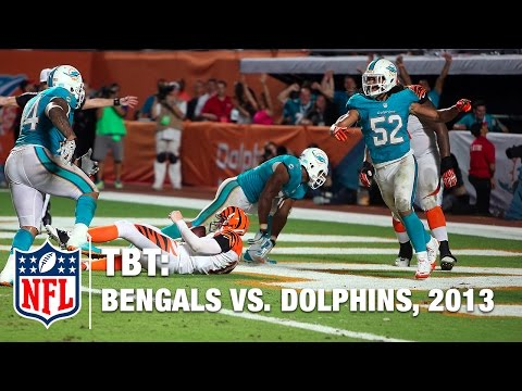 Cameron Wake's Game-Winning Safety vs. Bengals (Week 9, 2013) | #ThrowBackThursday | NFL
