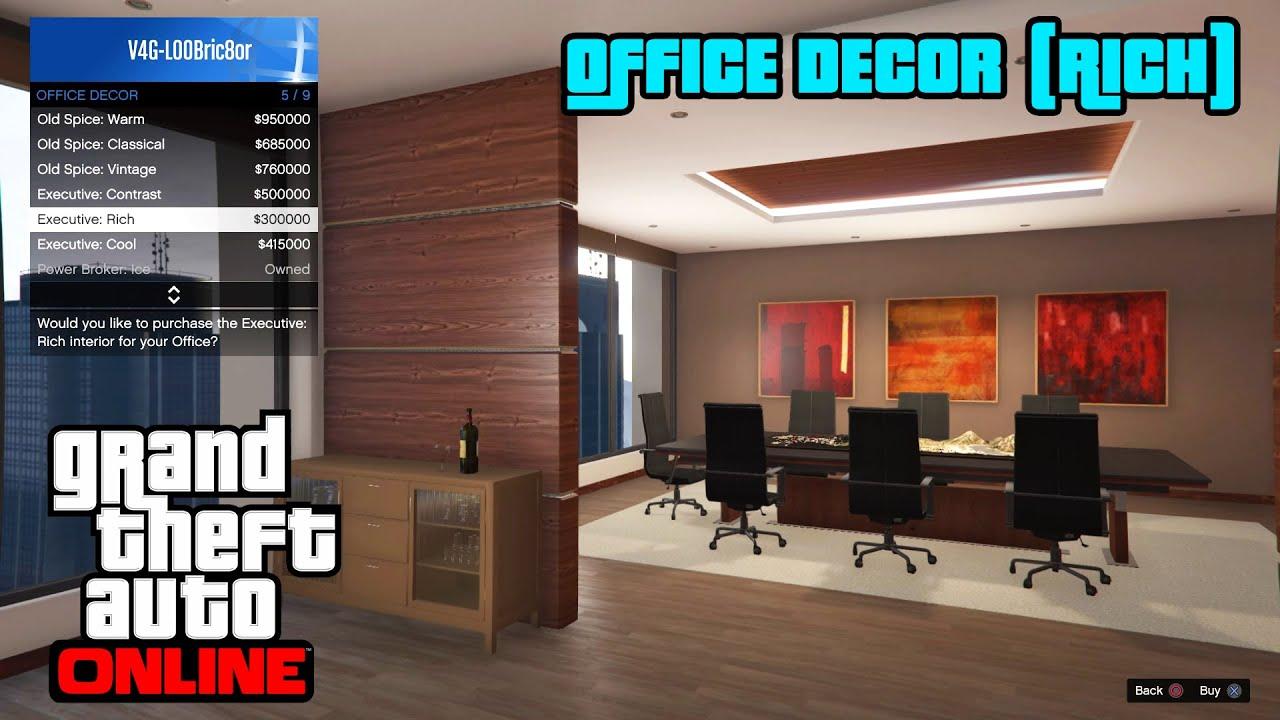 GTA 5 Online PS4   Office Decor (Rich)   YouTube