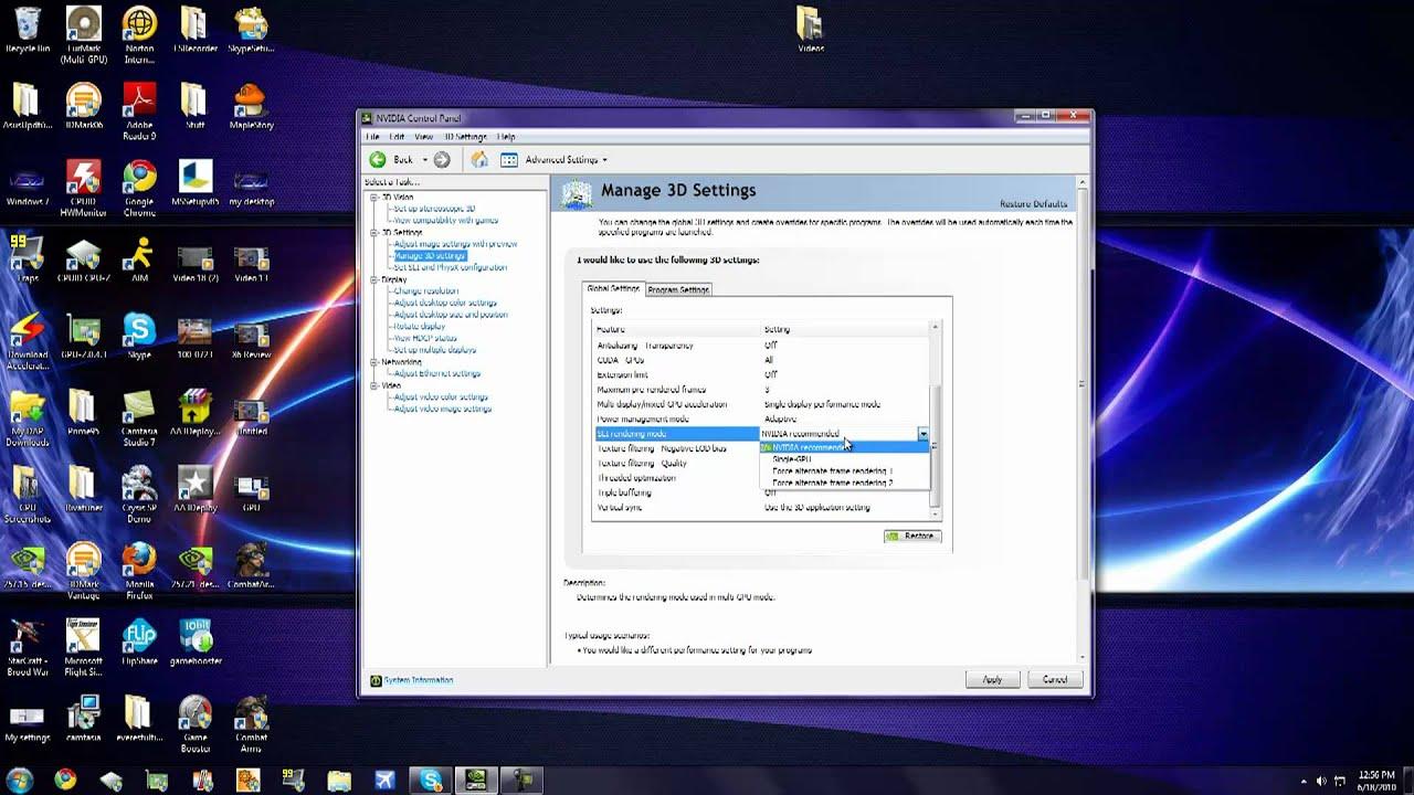 Optimizing Performance in nVidia Control Panel