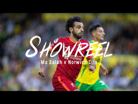 Showreel: Mo Salah v Norwich |  Two assists and a goal for the Egyptian king