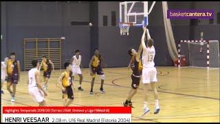 HENRI VEESAAR (2.08 m.) Cadete-U16 Real Madrid. HIGHLIGHTS. Estonia 2004 (BasketCantera.TV)