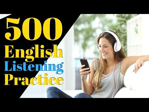 500 English Listening Practice 😀 Learn English Useful Conver