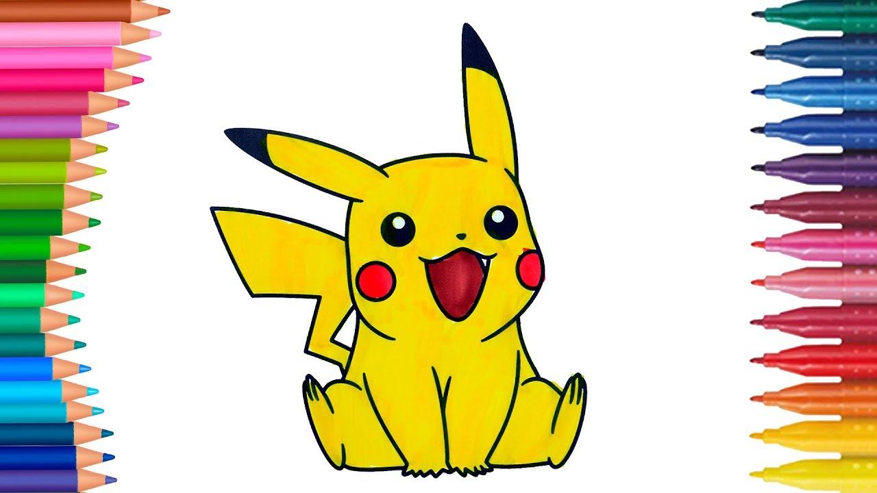 Pokemon Pikachu Boyama Sayfası Ile Renkleri öğrenelim Minik Eller