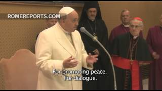Pope meets with participants of the Christian and Muslim Summit