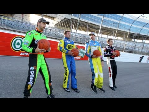 NASCAR Trick Shot Battle | Dude Perfect