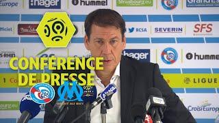 Conférence de presse RC Strasbourg Alsace - Olympique de Marseille (3-3) / 2017-18