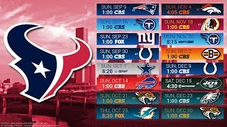 Houston Texans 2018 NFL Schedule Predictions/Outcomes