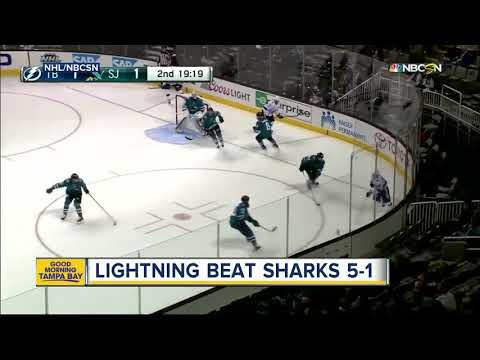 Vladislav Namestnikov scores 2 as NHL-best Tampa Bay Lightning stop San Jose Sharks, 5-1