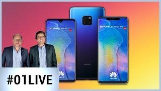 Mate 20 / Mate 20 Pro : Tout ce qu'il faut savoir sur les nouveaux Huawei - 01LIVE HEBDO #202