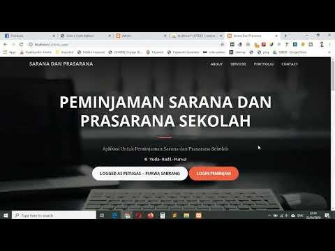 Aplikasi Sistem Informasi Peminjaman Sarpras Sekolah Berbasis Web - Free Source Code