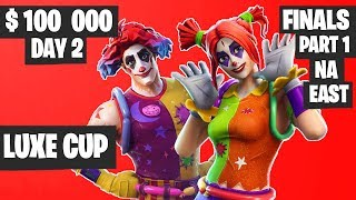 Fortnite Luxe Cup Finals Part 1 Highlights - NA East Day 2 [Fortnite Tournament 2019]