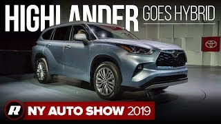 The 2020 Toyota Highlander gets new design and hybrid tech | New York Auto Show 2019