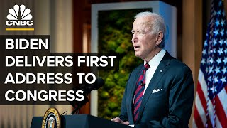 President Biden delivers first address to a joint session of Congress — 4/28/2021