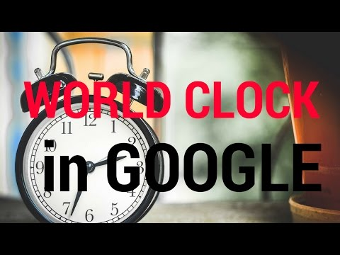 World Clock In Google