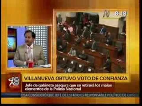 Villanueva obtuvo voto de confianza, declaraciones de Juan José Díaz