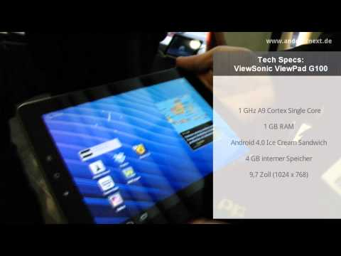 Viewsonic ViewPad E100 - Hands-On - MWC 2012 - androidnext.de