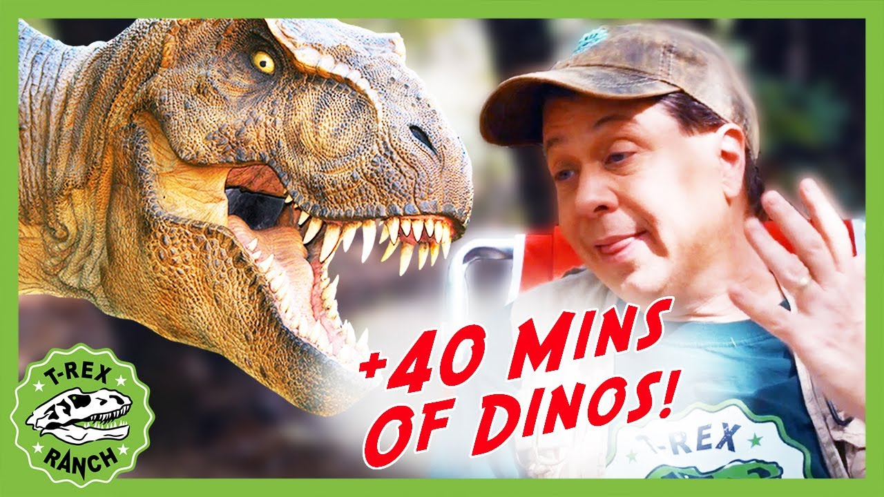 Dinosaurs at the Campfire + 40 Minutes of T-Rex Ranch Dinosaurs for Kids!