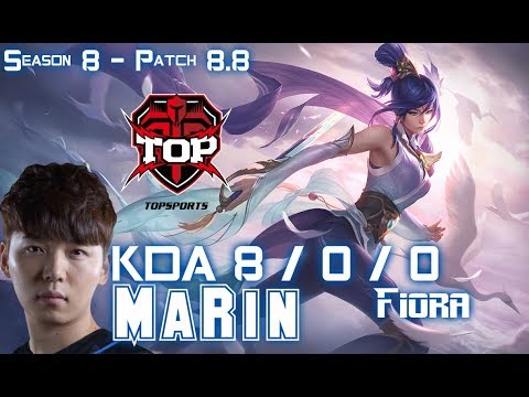 TOP MaRin FIORA vs YASUO Top - Patch 8.8 KR Ranked