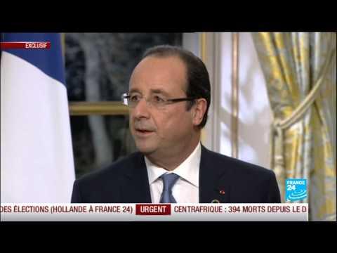 François Hollande en entretien exclusif à FRANCE 24, RFI et TV5 Monde