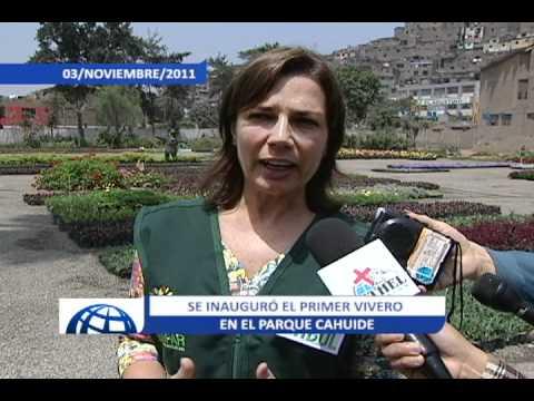 Se inaugur primer vivero en el parque cahuide asurekazani for Viveros en lima