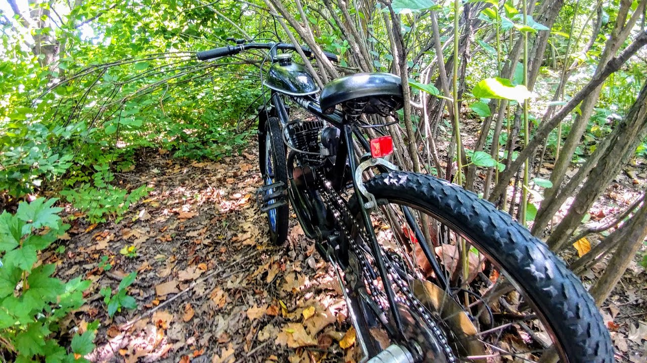 RIDE* 29` GX-7 cruiser motorized bicycle test ride by Motored Life